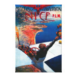 Meeting D' Aviation in Nice, France Poster Canvas Print