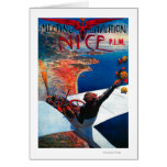 Meeting D' Aviation in Nice, France Poster Greeting Card
