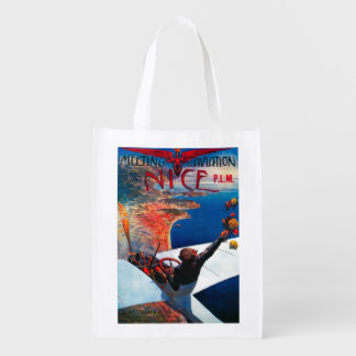 Meeting D' Aviation in Nice, France Poster Market Totes