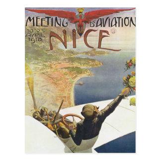Meeting d'Aviation Nice Postcard