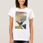 Meeting D'Aviation Nice Vintage Travel Poster T-Shirt