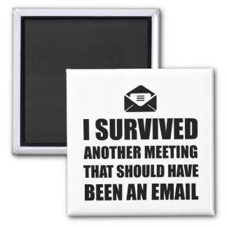 Meeting Email 2 Inch Square Magnet