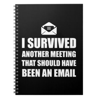 Meeting Email Spiral Notebook