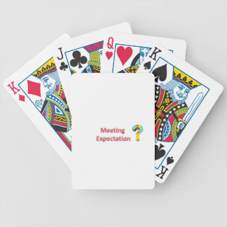 meeting expectation bicycle playing cards