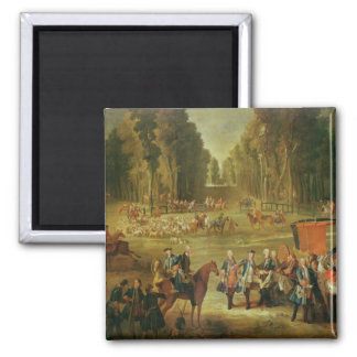 Meeting for the Puits-du-Roi Hunt at Compiegne 2 Inch Square Magnet