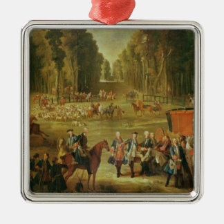 Meeting for the Puits-du-Roi Hunt at Compiegne Metal Ornament