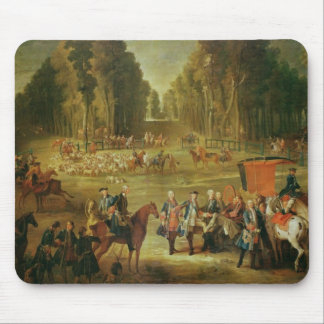Meeting for the Puits-du-Roi Hunt at Compiegne Mouse Pad
