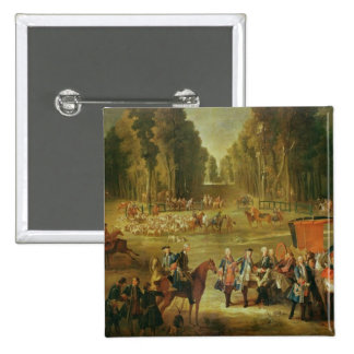 Meeting for the Puits-du-Roi Hunt at Compiegne Pinback Button