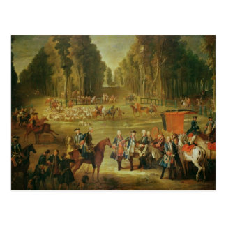 Meeting for the Puits-du-Roi Hunt at Compiegne Postcard