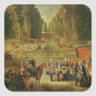 Meeting for the Puits-du-Roi Hunt at Compiegne Square Sticker