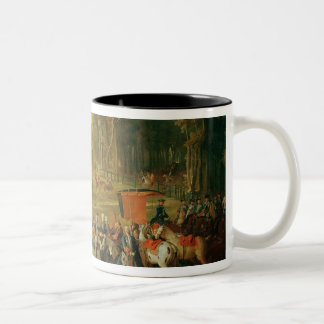 Meeting for the Puits-du-Roi Hunt at Compiegne Two-Tone Coffee Mug