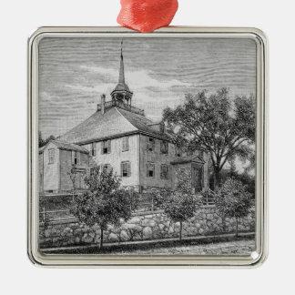 Meeting House at Hingham Metal Ornament
