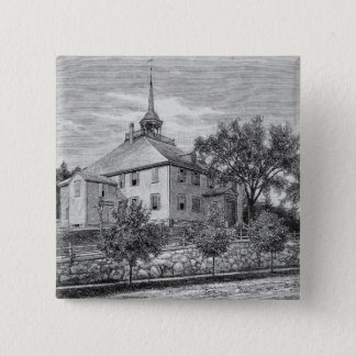 Meeting House at Hingham Pinback Button