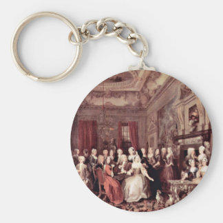 Meeting House In Wanstead By Hogarth William Basic Round Button Keychain