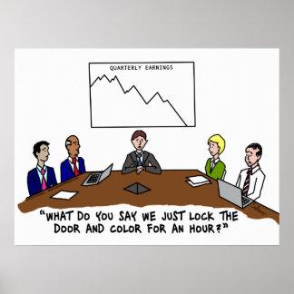 Meeting In Boardroom Color Framed Print