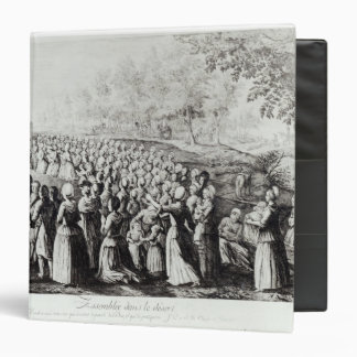 Meeting in the Desert, engraved by L. Bellotti 3 Ring Binders