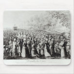 Meeting in the Desert, engraved by L. Bellotti Mouse Pad