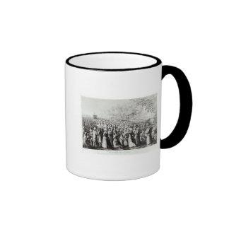 Meeting in the Desert, engraved by L. Bellotti Ringer Coffee Mug
