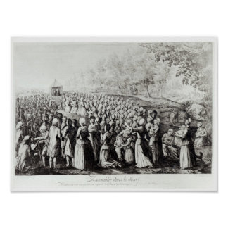 Meeting in the Desert, engraved by L. Bellotti Poster