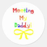 Meeting My Daddy! Sticker