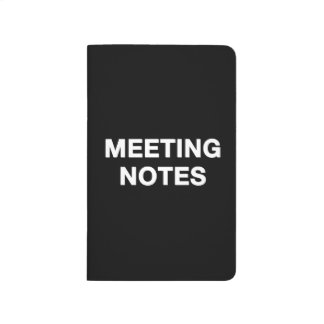 Meeting notes notebook