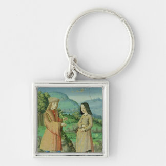 Meeting of Aeneas and Anne, the sister of Dido Keychain