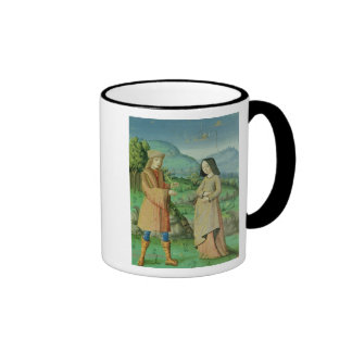 Meeting of Aeneas and Anne, the sister of Dido Ringer Coffee Mug