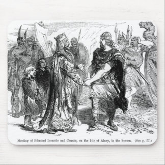 Meeting of Edmund Ironside  and Canute Mouse Pad