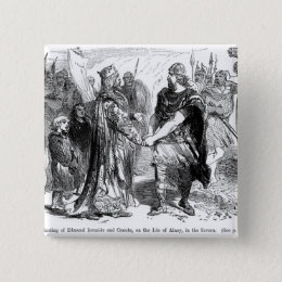 Meeting of Edmund Ironside  and Canute Pinback Button