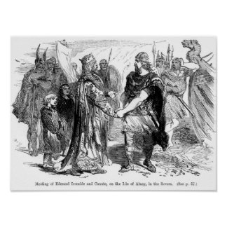 Meeting of Edmund Ironside  and Canute Poster