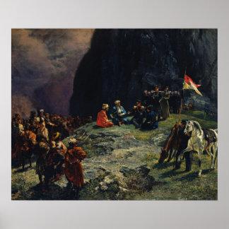 Meeting of Gen.Kluke von Klugenau & Imam Print