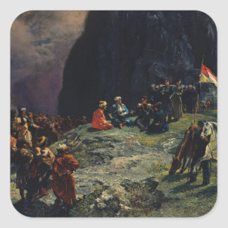Meeting of Gen.Kluke von Klugenau & Imam Sticker