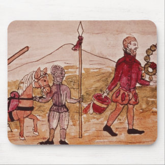 Meeting of Hernando Cortes  and Montezuma Mouse Pad