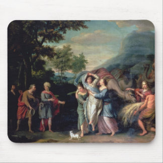 Meeting of Jacob and Laban with Rachel, Leah and S Mouse Pad