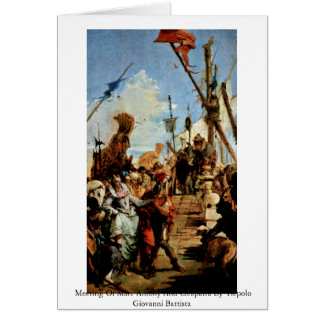 Meeting Of Marc Antony And Cleopatra Greeting Cards