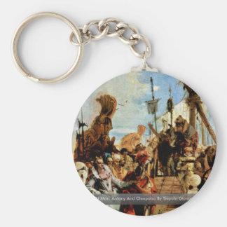 Meeting Of Marc Antony And Cleopatra Key Chain