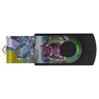 Meeting Of Minds Visual Art Silver 8 GB Black USB USB Flash Drive