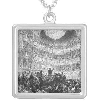 Meeting of the Anti-Corn Law League Silver Plated Necklace