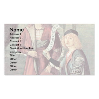 Meeting Of The Betrothed And The Beginning Business Card Template
