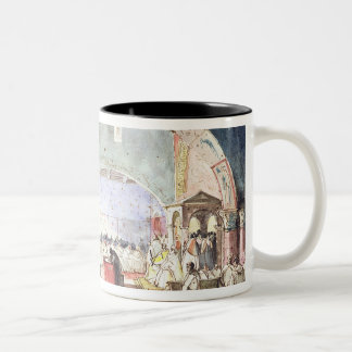 Meeting of the Chapter of the Order of the Temple Two-Tone Coffee Mug