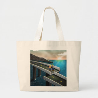 Meeting of the minds large tote bag