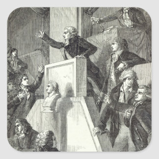 Meeting of the National Assembly, 1791 Square Sticker