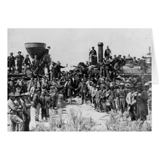 Meeting of the Rails - Promontory Point Utah 1869 Greeting Card