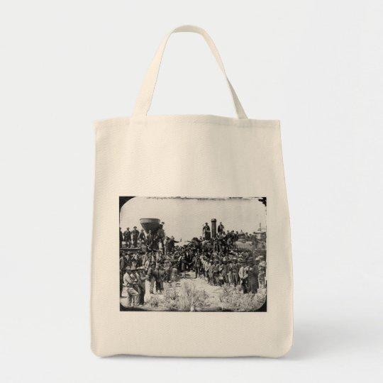 Meeting of the Rails - Promontory Point Utah 1869 Tote Bag