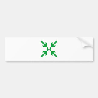Meeting Point Green on White Family Bumper Sticker