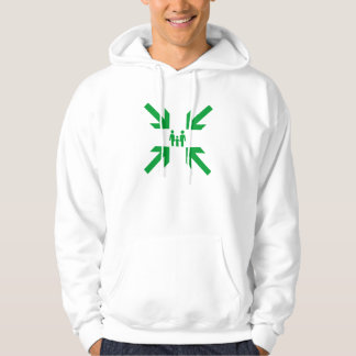 Meeting Point Green on White Family Hoodie