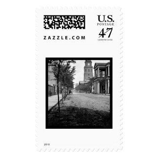Meeting Street in Charleston, SC 1865 Postage Stamp