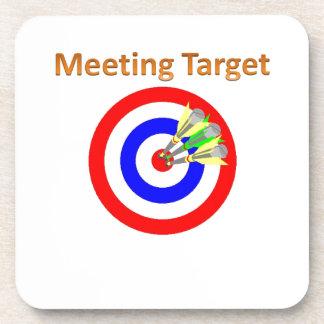 meeting target drink coaster