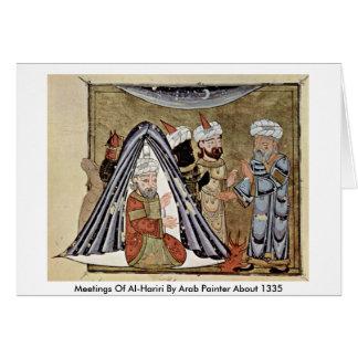 Meetings Of Al-Hariri By Arab Painter About 1335 Card