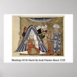 Meetings Of Al-Hariri By Arab Painter About 1335 Poster